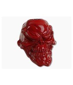 Schmuckatelli Grins Skull Bead Powder Coat Red