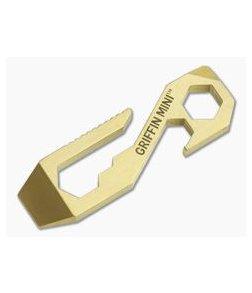 Griffin Pocket Tool Mini Brass Pocket Multitool