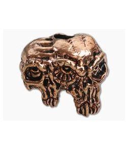 Schmuckatelli Gemini Twins Skull Bead Antique Copper Pewter