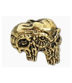 Schmuckatelli Gemini Twins Skull Bead Antique Gold Pewter
