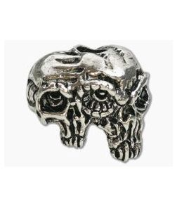 Schmuckatelli Gemini Twins Skull Bead Rhodium Plated Pewter