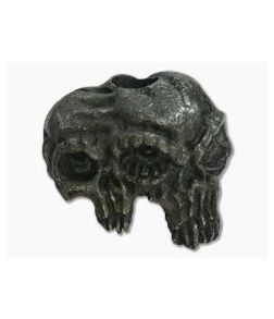 Schmuckatelli Gemini Twins Skull Bead Black Oxidized Pewter