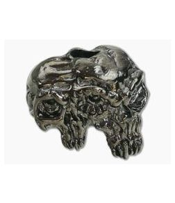 Schmuckatelli Gemini Twins Skull Bead Hematite Plated Pewter