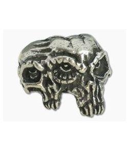 Schmuckatelli Gemini Twins Skull Bead Pewter