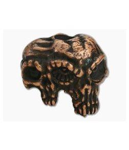 Schmuckatelli Gemini Twins Skull Bead Copper Oxidized Pewter