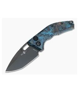 Heretic Knives Medusa Chemtina Copper DLC S35VN Tanto OTS Automatic Knife H011-6A-CHEM-01