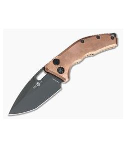 Heretic Knives Medusa Raw Copper DLC S35VN Tanto OTS Automatic Knife H011-6A-COPPER-01