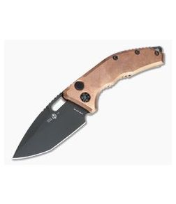 Heretic Knives Medusa Raw Copper DLC S35VN Tanto OTS Automatic Knife H011-6A-COPPER