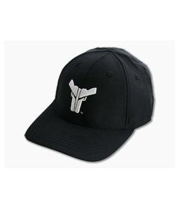 Blade-Tech Hat Black with White Logo Velcro Back Hat