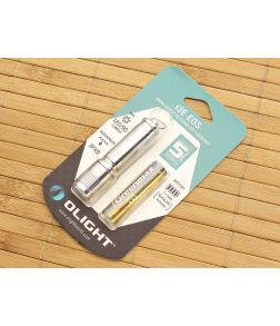 Olight i3E EOS Silver Keychain Flashlight AAA Battery