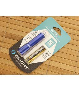 Olight i3E EOS Blue Keychain Flashlight AAA Battery