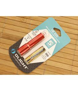Olight i3E EOS Red Keychain Flashlight AAA Battery