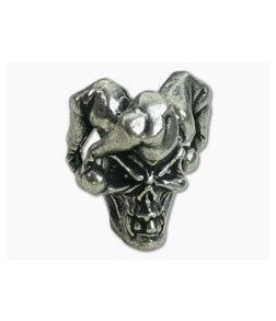 Schmuckatelli Jester Skull Bead Pewter