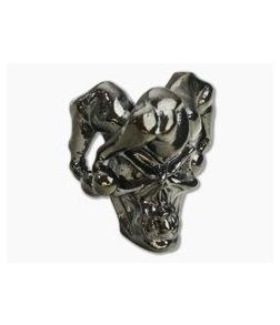 Schmuckatelli Jester Skull Bead Hematite Plated Pewter