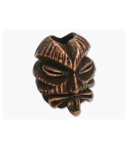 Schmuckatelli Kiko Tiki Bead Roman Copper Oxidized Pewter