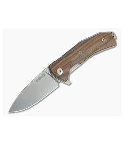 LionSteel KUR Flipper Santos Wood Sleipner Liner Lock Folder