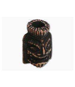 Schmuckatelli Ku Tiki Bead Roman Copper Oxidized Pewter