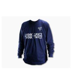 Chris Reeve Long Sleeve Shirt Navy Blue Large