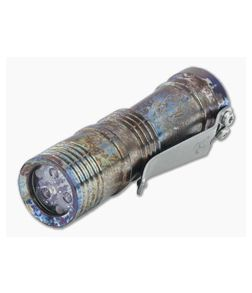 Laulima Metal Craft Ion Flashlight Acid Finish Titanium 4000K Neutral White Led Flashlight