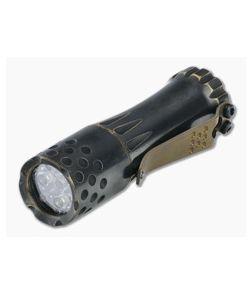 Laulima Metal Craft Malihini Flashlight Patina Finished Brass 4000K Neutral White Led Flashlight