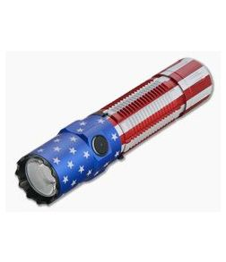 Olight M2R Pro Warrior Patriotic Flag Limited Edition Tactical Rechargeable 1800 Lumen Neutral White LED Flashlight