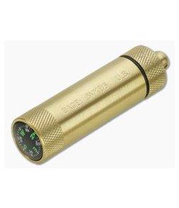 Maratac Brass Match Safe with Compass