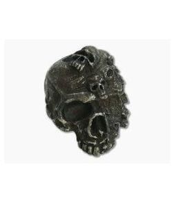 Schmuckatelli Mind Skull Bead Black Oxidized Pewter