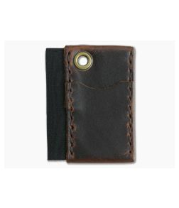 Hitch & Timber Micro Runt Brown Nut Leather EDC Slip & Pen Holder