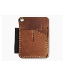 Hitch & Timber Mini Engineer Caddy English Tan Leather EDC Utility Wallet
