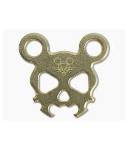 GiantMouse Morbid Mouse Mini Brass Bottle Opener Keychain