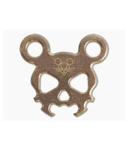 GiantMouse Morbid Mouse Mini Bronze Bottle Opener Keychain