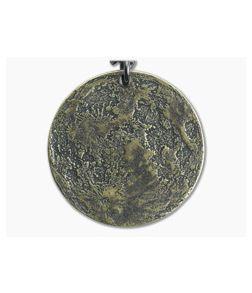 "Shire Post Mint Harvest Moon 1"" Brass Pendant Chain Necklace"