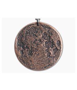"""Shire Post Mint Super Blood Moon 1.5"""" Copper Pendant Chain Necklace"""