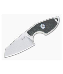 MKM Mikita Mikro 2 Vox Sheepsfoot Stonewashed M390 Carbon Fiber Neck Knife MR02-CF