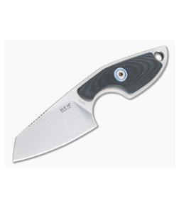 MKM Mikita Mikro 2 Vox Sheepsfoot Stonewashed M390 Black G10 Neck Knife MR02-GBK