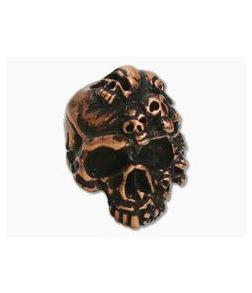 Schmuckatelli Mind Skull Bead Roman Copper Oxidized Pewter