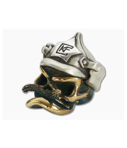 CKF Custom Knife Factory Mustache Soldier Bronze & Silver Bead
