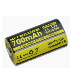 Nitecore IMR 18350 Rechargeable Battery 700mAh NI18350A