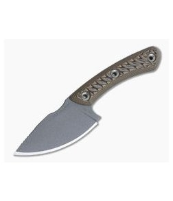 RMJ Tactical Nomad Skinner 52100 Hyena Brown Hunting Fixed Blade