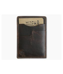 Hitch & Timber Notebook Caddy 2.0 Brown Nut Leather EDC Utility Wallet
