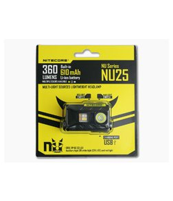Nitecore NU25 Rechargeable Multi-Color LED 360 Lumen Headlamp
