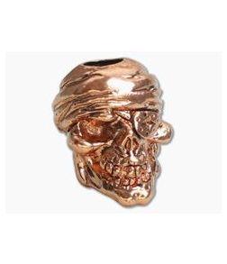 Schmuckatelli One-Eyed Jack Skull Bead Antique Copper