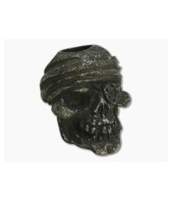 Schmuckatelli One-Eyed Jack Skull Bead Black Oxidized