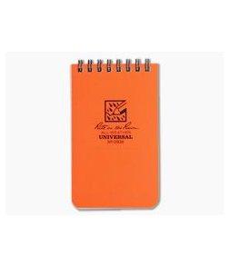 "Rite In The Rain 3"" x 5"" All-Weather Notebook Orange"