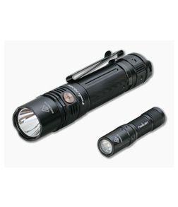 Fenix PD36R USB-C Rechargeable 1600-Lumen Tactical LED Flashlight + E01 V2.0 Keychain Light