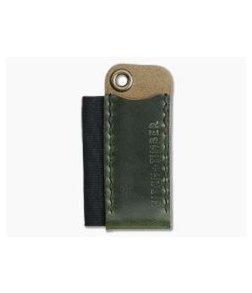 Hitch & Timber Pocket Runt Cadet Antique Green Leather Slip & Pen Holder