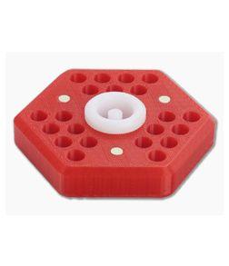 Audacious Concept Hex21 Desktop Tool Holder Red Polymer