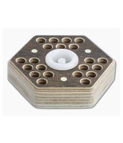 Audacious Concept Hex21 Desktop Tool Holder Brown Plywood