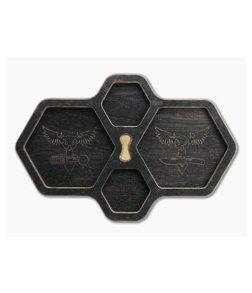 Audacious Concept HexTray Black Plywood EDC Organizer Tray