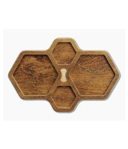 Audacious Concept HexTray Brown Plywood EDC Organizer Tray